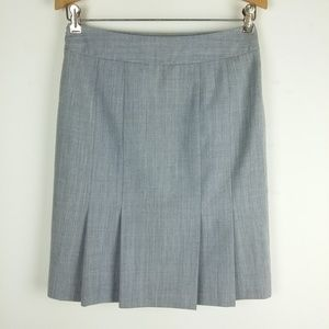 WHBM Heather Gray Pleated Bustle Skirt
